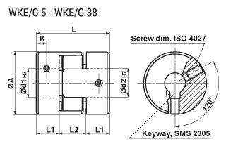 Klokopplingar WKEG 5-38